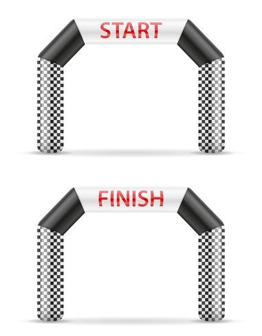 ligne gonflable fin d'arrivée pour illustration vectorielle sport vecteur