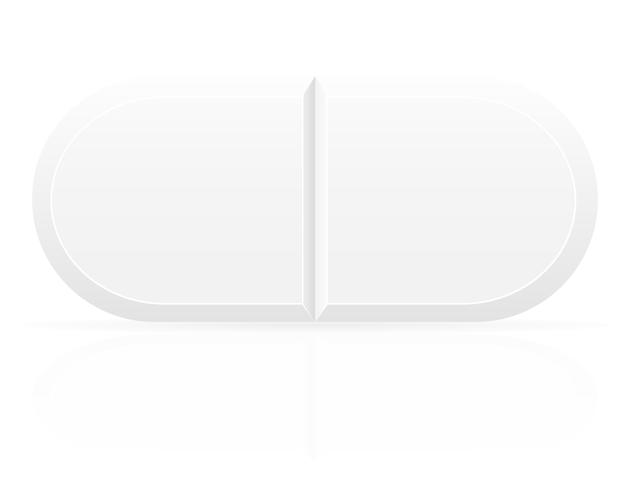 white medical pills for treatment vector illustration