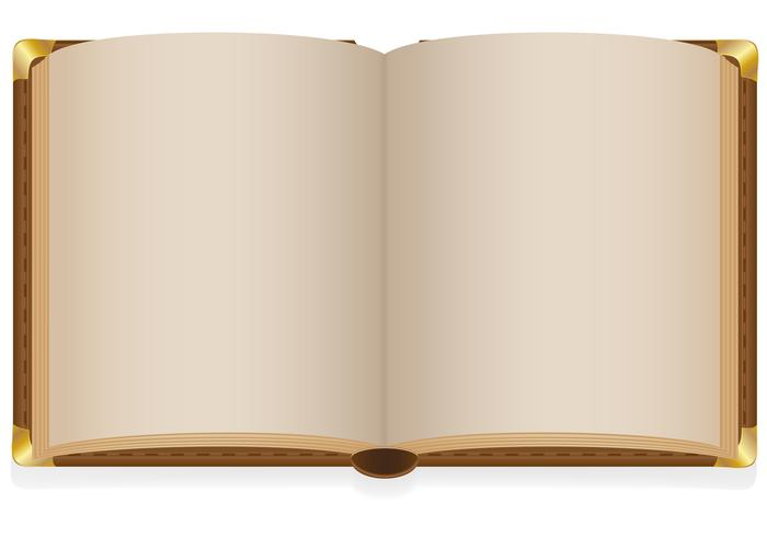 old open book with blank sheets vector illustration