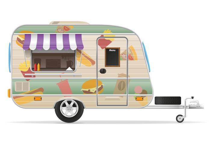 snabbmat trailer vektor illustration