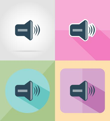sound flat icons vector illustration