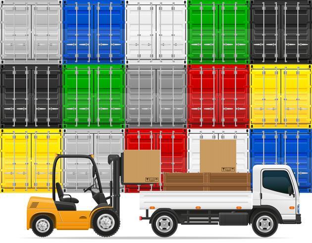 godstransport begrepp vektor illustration