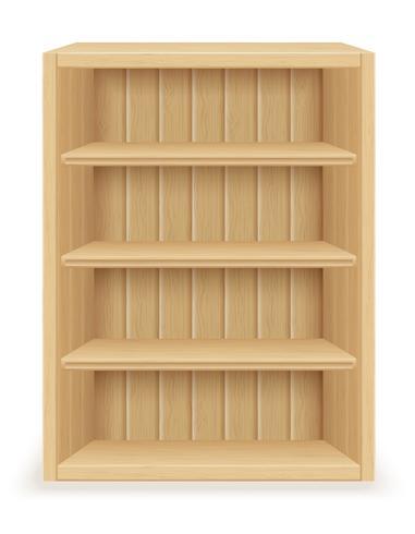 mobilia dello scaffale per libri fatta di vettore di legno