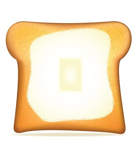 toast with butter vector illustration