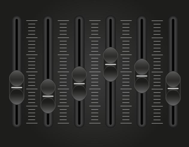illustrazione di vettore del mixer del suono della console del pannello
