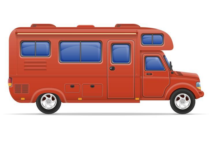 illustration vectorielle de voiture van caravane camping car mobile home