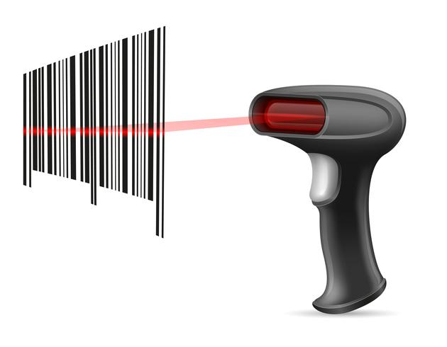 illustration de code à barres scanner vector stock