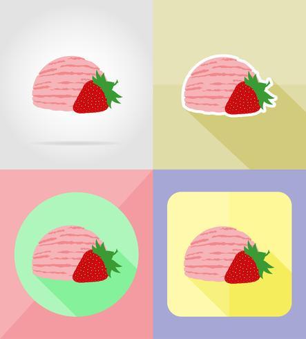 ice cream flat icons vector illustration