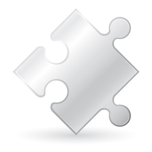 metallic puzzle vector illustration
