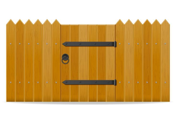 houten hek met loopdeur vectorillustratie