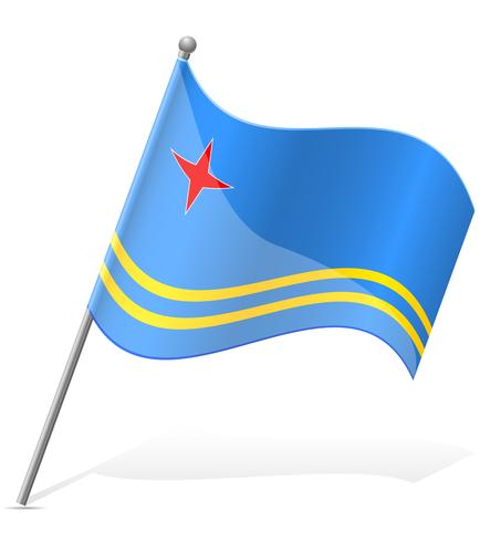 Flagge der Aruba-Vektor-Illustration