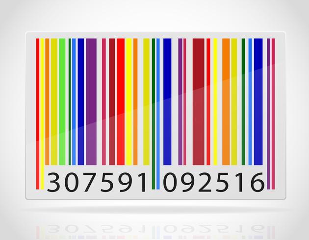mångfärgad streckkod vektor illustration