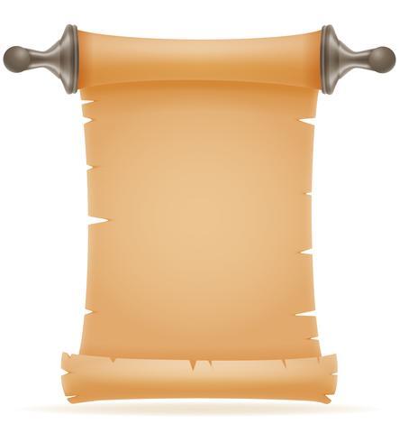 illustrazione di vettore del vecchio rotolo di carta