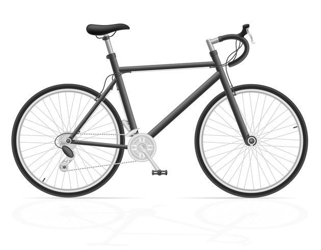 Bicicleta de carretera con ilustración de vector de cambio de marcha