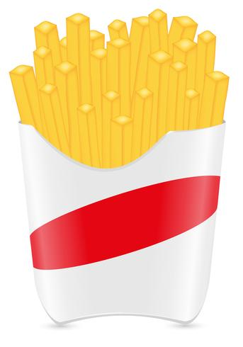 fries potato vector illustration