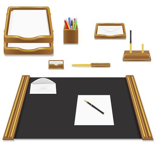 Ilustración de vector de oficina papelería