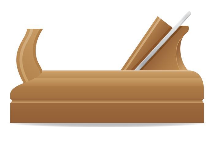 gereedschap houten vliegtuig vectorillustratie