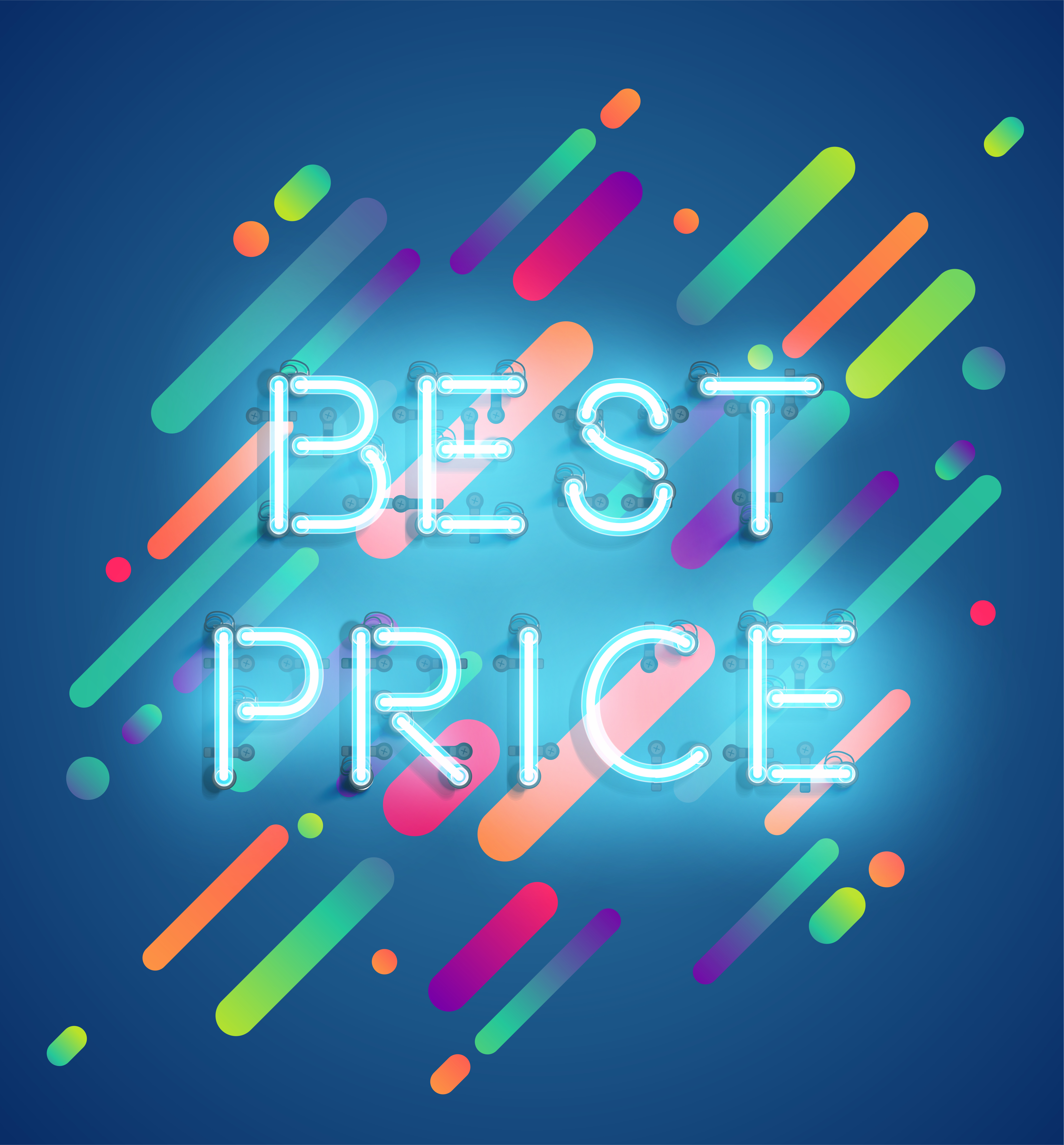 Neon word on colorful background vector illustration Download Free Vectors Clipart