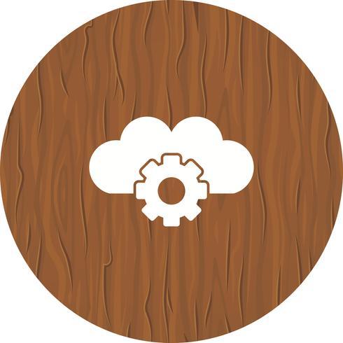 Cloud instellingen pictogram ontwerp