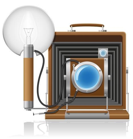 vieja cámara foto vector ilustración