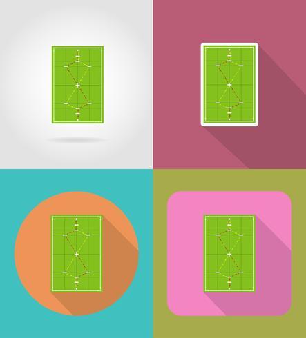 lekplats för krocket platt ikoner vektor illustration