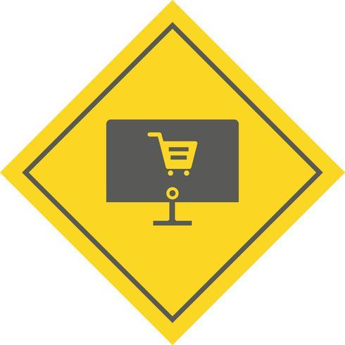 Compras en línea Icon Design vector