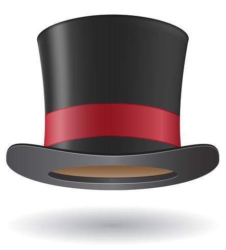 illustrazione vettoriale di cilindro cappello