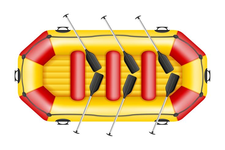 inflatable rafting boat vector illustration