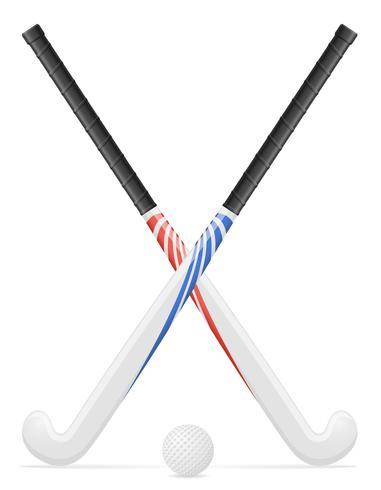 field hockey sport equipment vector illustration