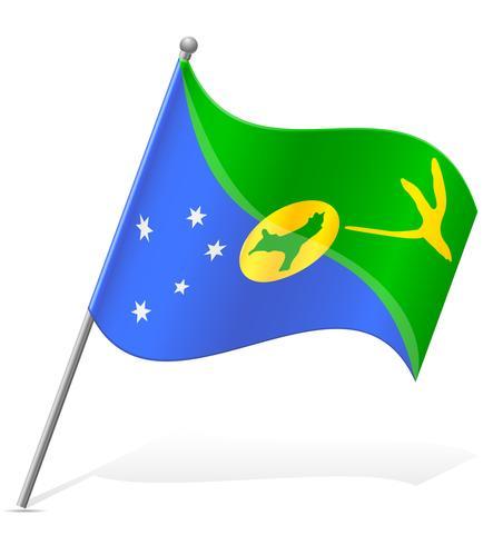 Bandera de ilustración vectorial de la isla de Navidad vector