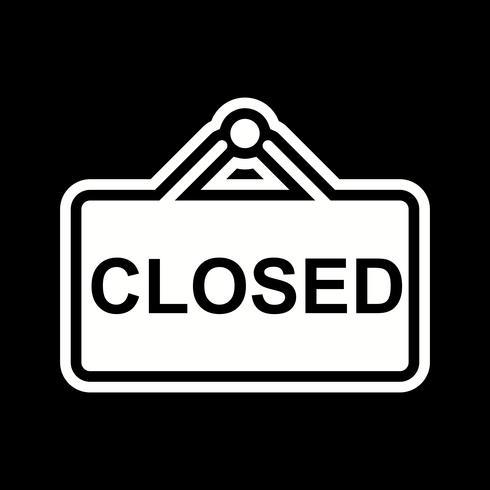 Closed Sign Icon Design vector