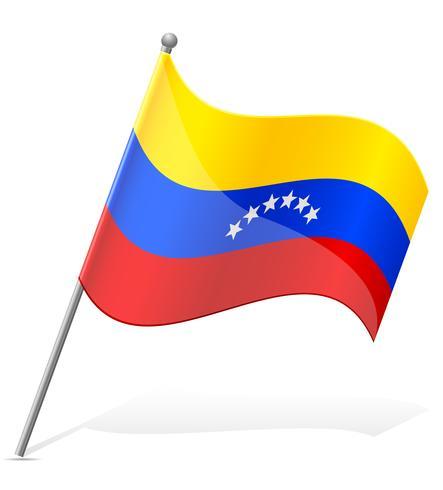 bandeira da ilustração vetorial de Venezuela