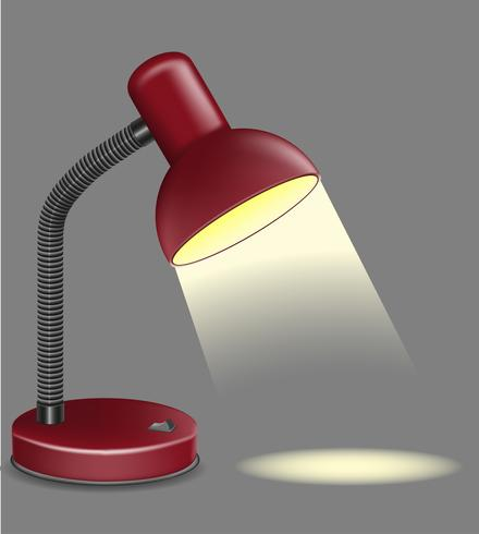 ilustração de vetor de candeeiro de mesa de iluminação