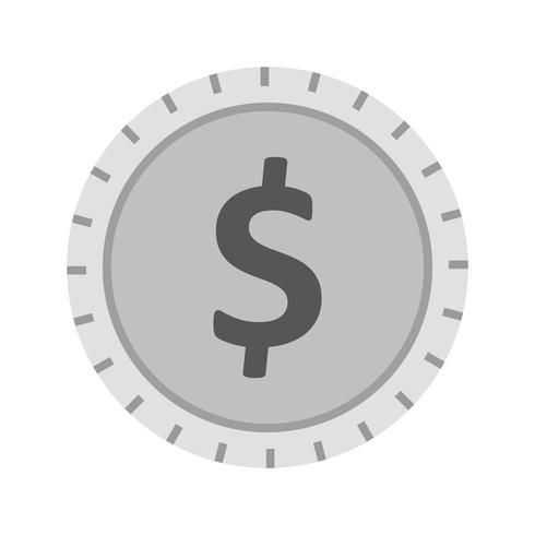 dollar mynt ikon design vektor