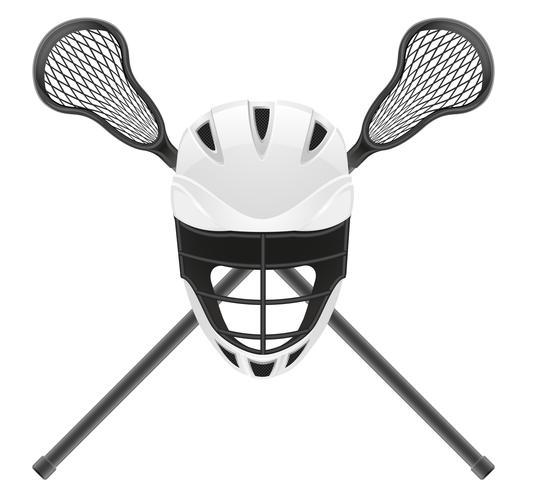 Ilustración de vector de equipo de lacrosse