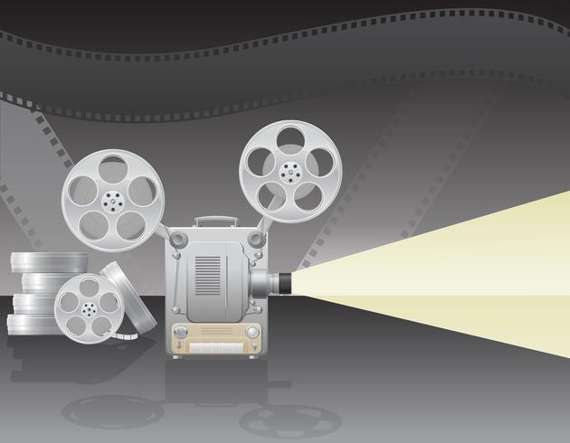 illustrazione vettoriale di cinema proiettore