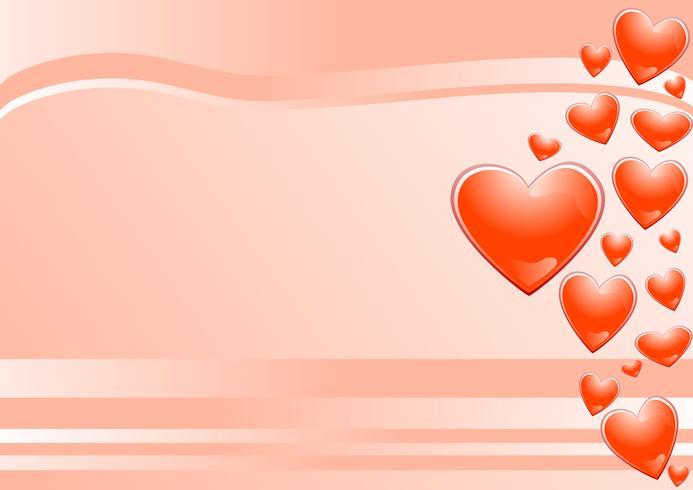 fundo rosa e corações vetor