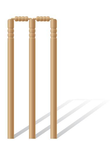 ilustración de vector de wickets de criket