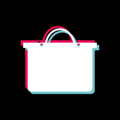 Design de ícone de sacola de compras vetor