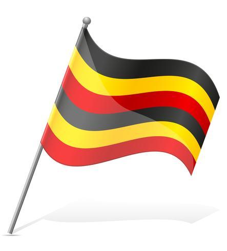 vlag van Oeganda vector illustratie