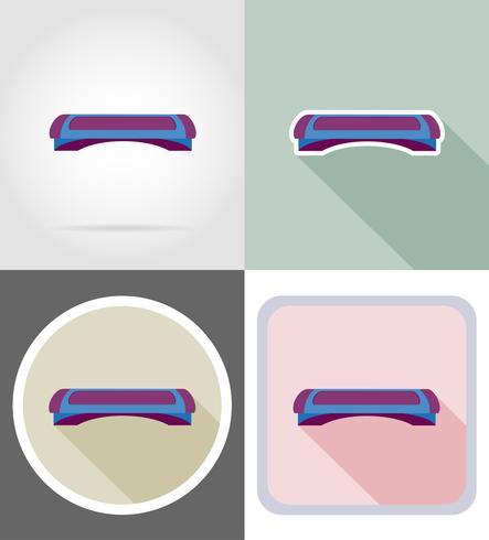 ilustração em vetor ícones plana de placa de etapa de aptidão