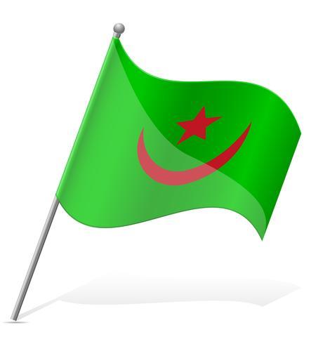 Bandeira da Mauritânia Ilustração vetorial
