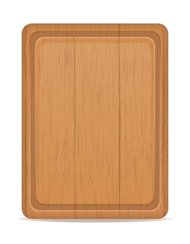 ilustração em vetor placa de corte de madeira