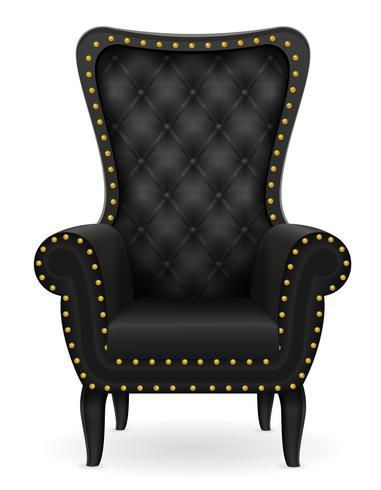schwarze Lehnsesselmöbel-Vektorillustration