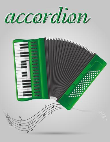 accordeon muziekinstrumenten stock vector illustratie