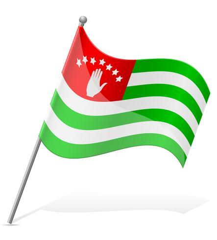 Flagga av Abkhazia vektor illustration