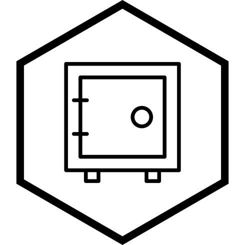 conception d'icône de coffre vecteur