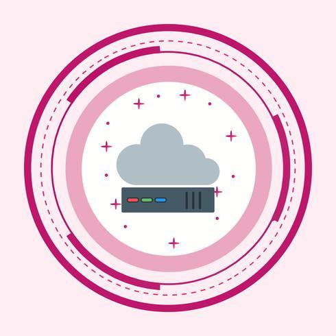 Conception d'icône de nuage vecteur