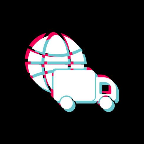 Global Delivery Icon Design vector