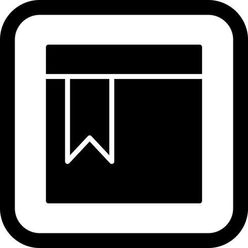 Conception d'icône de page marquée vecteur